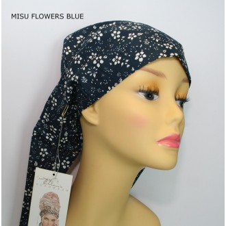 TURBANTE MISU FLOWER BLUE ELLEN WILLE