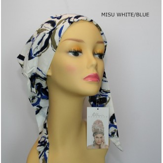 TURBANTE MISU WHITE/BLUE ELLEN WILLE