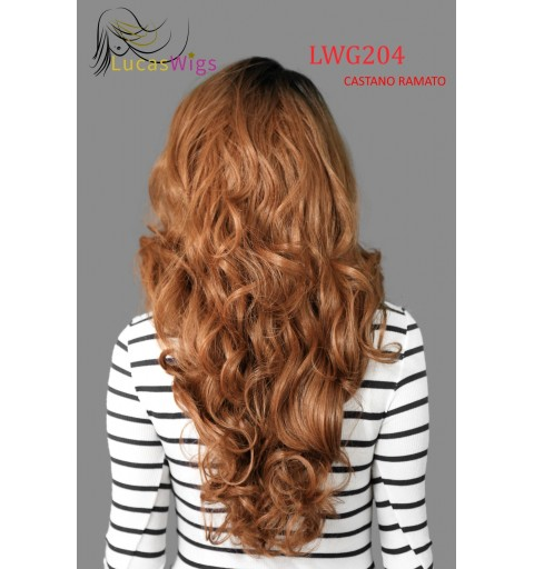 LWG204 PARRUCCA CAPELLI MOSSI FRONT LACE WIG STYLEMIX 65cm